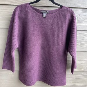 Ann Taylor Wool/Cashmere Sweater Boat Neck, Size M